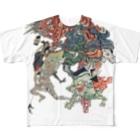 😄 SMILE  or Kill🗡の百鬼夜行絵巻 Full graphic T-shirts