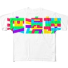 渡邊課 課長 渡邊徹の渡邊課ロゴ Full graphic T-shirts