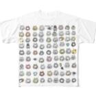 ほっかむねこ屋(アトリエほっかむ)のほっかむねこず Full graphic T-shirts