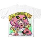 Jackpot-ArtsのABUDUCTIONちゃん Full graphic T-shirts