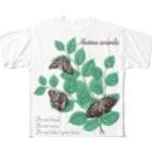 kitaooji shop SUZURI店のアカボシゴマダラとエノキ Full graphic T-shirts