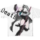 水道橋ですらの死神ちゃん Full graphic T-shirts