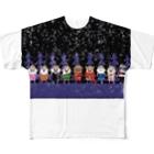 長与 千種 Chigusa Nagayoのマーベルドッグス笠地蔵 Full graphic T-shirts
