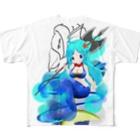 まっつん工房のアマビエ様&マーメイド Full graphic T-shirts
