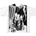 さよならうみかわのひとりのじかん Full graphic T-shirts