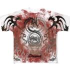 DRAGNET BRANDのFire Circle DRAGNET Full graphic T-shirts