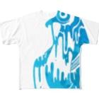 トライバルデザイナー鵺右衛門@仕事募集中のペンキン Full graphic T-shirts