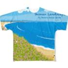 湘南デザイン室:Negishi Shigenoriの湘南ランドスケープ08:海辺のハマダイコン Full graphic T-shirts