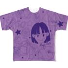 オートレースモバイル     佐藤摩弥オフィシャルグッズの佐藤摩弥デザインTシャツ.パープル Full graphic T-shirts