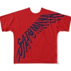 """オートレースモバイル     佐藤摩弥オフィシャルグッズの""""SATOMAYA""""ロゴTシャツ.レッド Full graphic T-shirts"""
