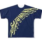 """オートレースモバイル     佐藤摩弥オフィシャルグッズの""""SATOMAYA""""ロゴTシャツ.ネイビー Full graphic T-shirts"""