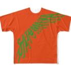 """オートレースモバイル     佐藤摩弥オフィシャルグッズの""""SATOMAYA""""ロゴTシャツ.オレンジ Full graphic T-shirts"""