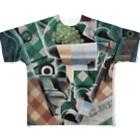 世界の絵画アートグッズのフアン・グリス 《チェックのテーブルクロスのある静物》 Full Graphic T-Shirt