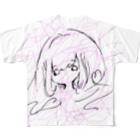 カワイイ基地。のラブリーハートあいどる Full graphic T-shirts