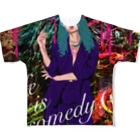 Kenny T-shirtのlife is comedy All-Over Print T-Shirt