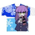 yoheiheyのDemon girls#2 Becca with coffee Full graphic T-shirts