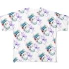 RYO NISHIWAKIのWakki quetzal diagonal Full graphic T-shirts