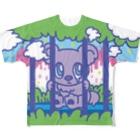 CHEBLOの檻越しのチェブアニマル  Full graphic T-shirts