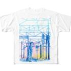 新商品PTオリジナルショップの矢ヶ崎第一閉そく信号機(碓氷線) Full graphic T-shirts