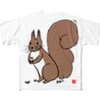 Mナオキのエゾリス Full graphic T-shirts