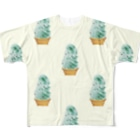 madeathのチョコミントソフト(白) Full graphic T-shirts