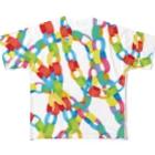 utanogoodsのpaper chain Full graphic T-shirts
