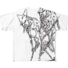 nakamura chingのなんかのつがい Full graphic T-shirts
