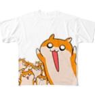 NORICOPOの大きなクソハムちゃん Full graphic T-shirts