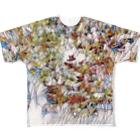 Geedの花タイル Full graphic T-shirts