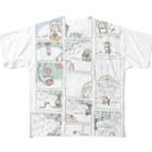 ほっかむねこ屋(アトリエほっかむ)のねことへびのお話 Full graphic T-shirts