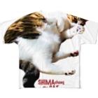 ラヴ&ピース川津のSHIMA chang the CAT Full graphic T-shirts