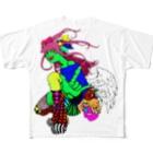 ガラスのパンツのカラフル Full Graphic T-Shirt