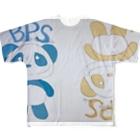 イエローパンダ スマイルのイエローパンダ&ブルーパンダ Full graphic T-shirts