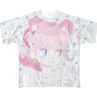 ハートいちご フルグラフィックTシャツ