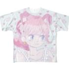 茅野イルミのお店のハートいちご Full graphic T-shirts