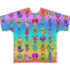 PICOPICOのピコピコオールスター レインボー Full graphic T-shirts