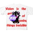 オリジナルデザインTシャツ SMOKIN'のくるりんモクモックマB黒 Full graphic T-shirts