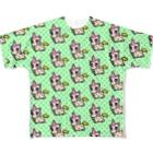PICOPICOの甘獣ユニん子 イエロー Full graphic T-shirts