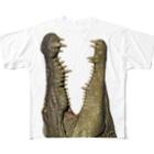 ワイルドデザインのわにシャツ (003) ワニ 鰐 wani All-Over Print T-Shirt