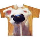 akaneRの犬 Full graphic T-shirts