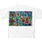 秋永アートのtf Full graphic T-shirts