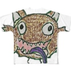 yagiyaのshirotaro-ウルフ- Full graphic T-shirts