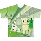 Salucoro SHOPのBig Fellows 代々木上原駅 Green Full graphic T-shirts