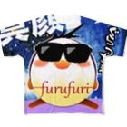 フルフリのフルフリフルグラフィックTシャツ