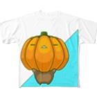 bekkouの瞑想かぼちゃ Full graphic T-shirts
