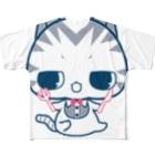 aska/ねこのかんづめのおなかぺこぺこにゃ フルグラフィックTシャツ