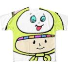 世紀末事件のさるのかぶりもの少女 Full graphic T-shirts