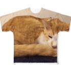 あかめ@猫カフェの永ちゃん代表 Full graphic T-shirts
