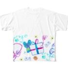 橋本京子のプレゼントのゆめみたの(Karin) Full graphic T-shirts