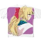 橘りたの暁子フルグラフィックTシャツ